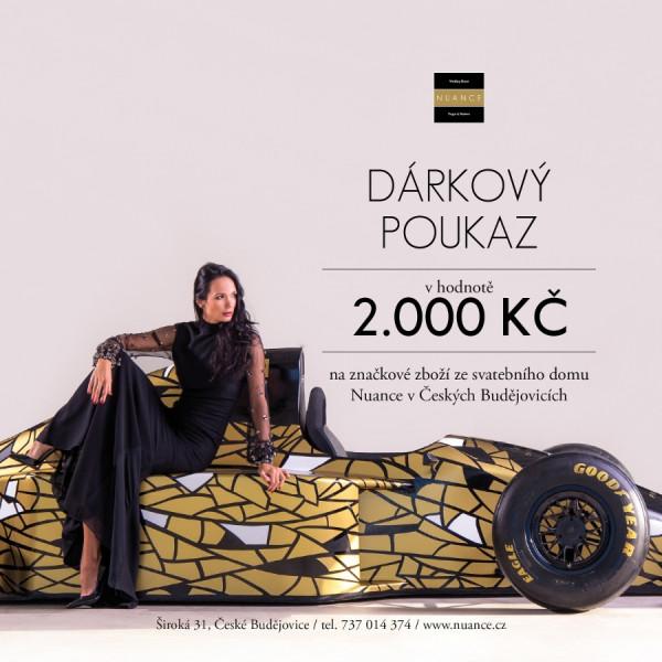 Dárkový poukaz NUANCE 2.000 Kč