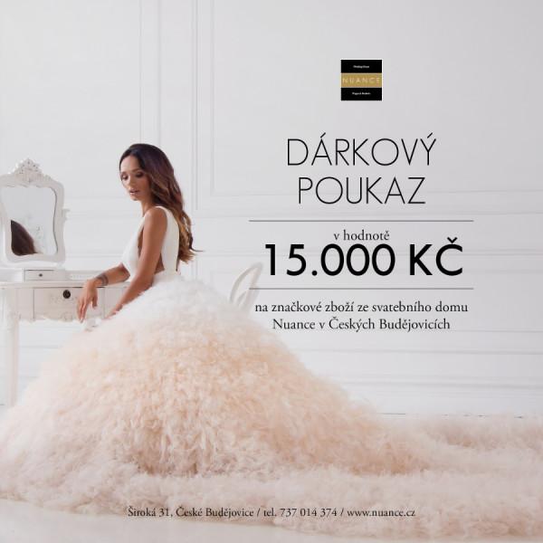 Dárkový poukaz NUANCE 15.000 Kč