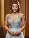 Společenské šaty Jora y40208 Blue 2020