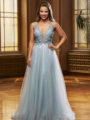 EVENING DRESS 2021 Jora y40208 Blue