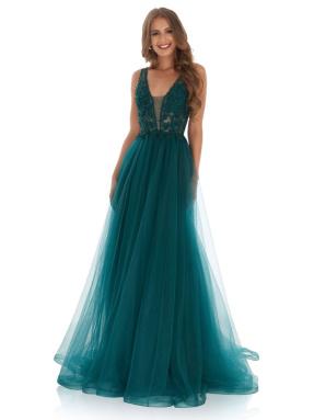 EVENING DRESS 2021 Jora y40208 Green