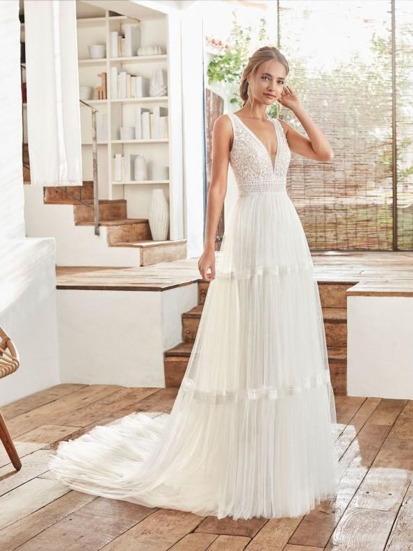 Svatební šaty Rosa Clará Cami 2020