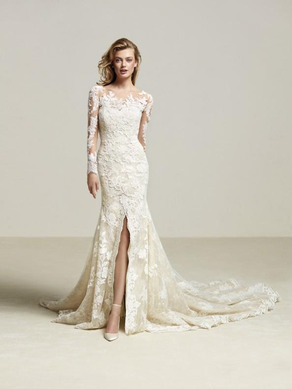 Svatební šaty Pronovias Driate 2018