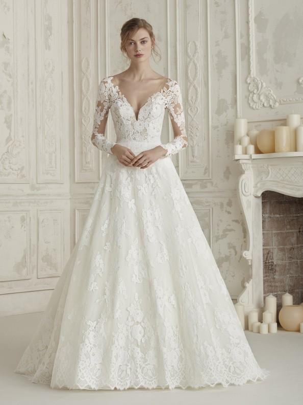 Svatební šaty Pronovias Elema 2019