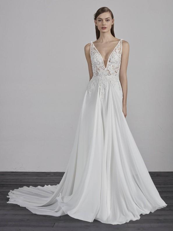 Svatební šaty Pronovias Escala 2019