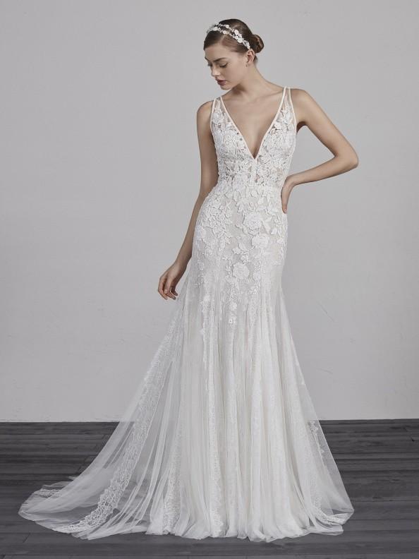 Svatební šaty Pronovias Estampa 2019