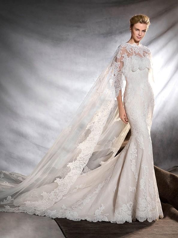 Svatební šaty Pronovias Oringo cape 2017